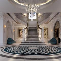 French classical villa:  Corridor & hallway by dal design office