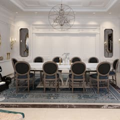 French classical villa:  Dining room by dal design office