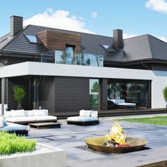 Projekt domu HomeKONCEPT 53: styl , w kategorii Domy zaprojektowany przez HomeKONCEPT | Projekty Domów Nowoczesnych