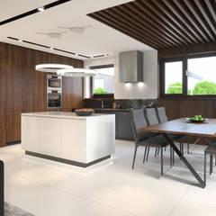 Projekt domu HomeKONCEPT 53: styl , w kategorii Jadalnia zaprojektowany przez HomeKONCEPT | Projekty Domów Nowoczesnych