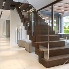 Projekt domu HomeKONCEPT 53: styl , w kategorii Schody zaprojektowany przez HomeKONCEPT | Projekty Domów Nowoczesnych