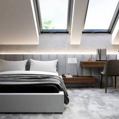 Projekt domu HomeKONCEPT 53: styl , w kategorii Sypialnia zaprojektowany przez HomeKONCEPT | Projekty Domów Nowoczesnych
