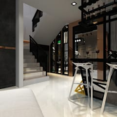 Proposed Interior Design for 2-Storey Terrace House:  Wine cellar by Desquared Design