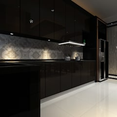 Proposed Interior Design for 2-Storey Terrace House:  Kitchen by Desquared Design