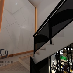 Proposed Interior Design for 2-Storey Terrace House:  Stairs by Desquared Design,