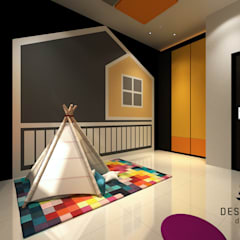 Proposed Interior Design for 2-Storey Terrace House:  Nursery/kid's room by Desquared Design, Modern