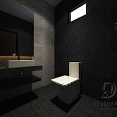 Proposed Interior Design for 2-Storey Terrace House:  Bathroom by Desquared Design, Modern