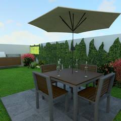 Vista Jardin: Jardines de invierno de estilo moderno por eleganty