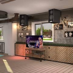 Interior design of the sauna in loft style: Бары и клубы в . Автор – INTERIOR DESIGNER