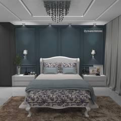 Dormitório do casal: Quartos  por Yeedger Tavares Projetos de interiores,Clássico MDF