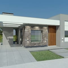 منزل عائلي صغير تنفيذ Agustín Reyes - Zoom Arquitectura.