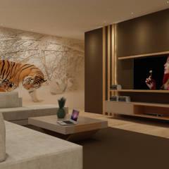 غرفة المعيشة تنفيذ Angelourenzzo - Interior Design