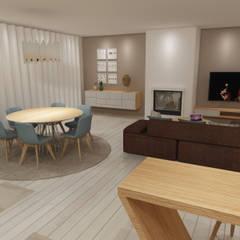 Apartamento São Félix da Marinha: Salas de jantar  por Angelourenzzo - Interior Design