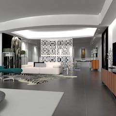 Apartamento no centro de Lisboa : Salas de estar  por Angelourenzzo - Interior Design