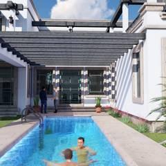 Alberca.: Baños de estilo  por BUILD ARQUITECTURA