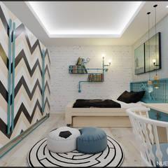 Nuevo Tasarım – Ankara Park Vadi Ev Projesi:  tarz Erkek çocuk yatak odası