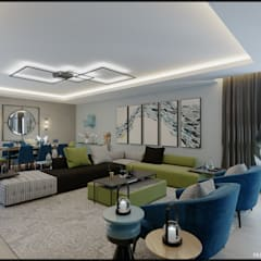 Nuevo Tasarım – Ankara Park Vadi Ev Projesi:  tarz Oturma Odası