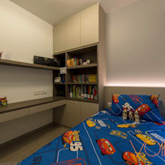 27 Anchorvale Crescent, Bellewaters:  Bedroom by VOILÀ Pte Ltd