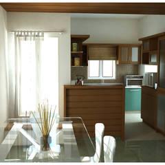 Dining Area: rustic Dining room by Sandarbh Design Studio