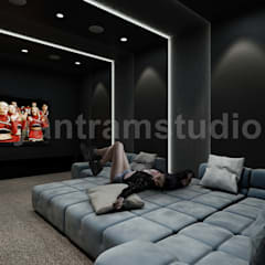 Media room by Yantram Architectural Design Studio, Modern