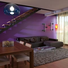 sala de Estar: Salas de estar  por Nuno Ladeiro, Arquitetura e Design