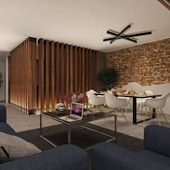 Area Social Comedor: Comedores de estilo  por Stuen Arquitectos