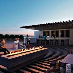 Roof Garden: Terrazas de estilo  por Stuen Arquitectos