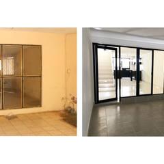 REMODELACIÓN CASA HABITACIÓN: Garajes de estilo  por Dehonor Arquitectos