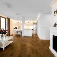 Warszawska kajuta: styl , w kategorii Salon zaprojektowany przez Perfect Space