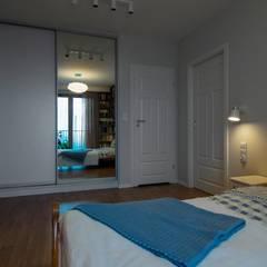 Warszawska kajuta: styl , w kategorii Sypialnia zaprojektowany przez Perfect Space