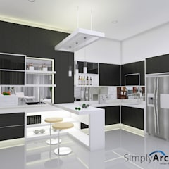 :  Dapur built in by Simply Arch.
