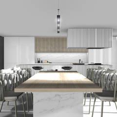 Jadalnia: styl , w kategorii Jadalnia zaprojektowany przez 91m2 Architektura Wnętrz