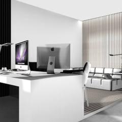 Domowe biuro: styl , w kategorii Domowe biuro i gabinet zaprojektowany przez 91m2 Architektura Wnętrz