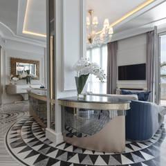 غرفة المعيشة تنفيذ NG-STUDIO Interior Design