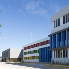 britt academy playa del carmen: Estudios y oficinas de estilo  por Daniel Cota Arquitectura | Despacho de arquitectos | Cancún