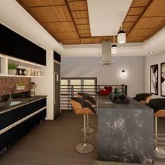 Cozinha Planejada : Armários e bancadas de cozinha  por TRAIT ARQUITETURA E DESIGN
