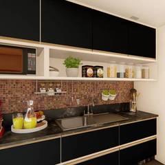 Cozinha: Armários e bancadas de cozinha  por TRAIT ARQUITETURA E DESIGN