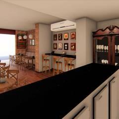 Cafeteria - bancada: Bares e clubes  por TRAIT ARQUITETURA E DESIGN