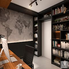 Study/office by Laura Mueller Arquitetura + Interiores