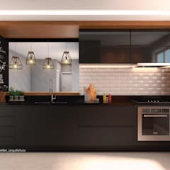 Kitchen units by Laura Mueller Arquitetura + Interiores