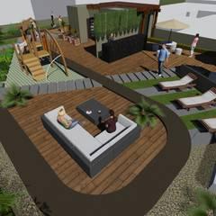 EDIFICIO EZKINA: Terrazas de estilo  por Corte Verde SAS