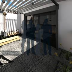 Terraza: Casas multifamiliares de estilo  por a Arquitecto