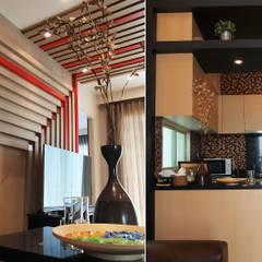 Private Suite:  ห้องนั่งเล่น โดย Pilaster Studio Design, โมเดิร์น