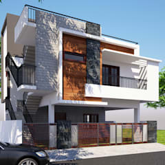 Custom Home Designed for Mr. Naveen:  Houses by Klass Designers and Contractors,Modern