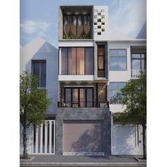 Maison individuelle de style  par Công ty Thiết Kế Xây Dựng Song Phát, Asiatique