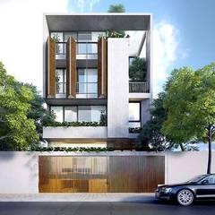 Maisons de style  par Công ty Thiết Kế Xây Dựng Song Phát, Asiatique