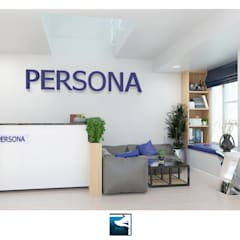 Interior Design : Persona Office Design:  อาคารสำนักงาน ร้านค้า by Blufox eco-solution Co., Ltd.