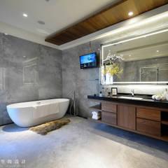 住盛不動產/天鑽V-金迷風尚:  浴室 by SING萬寶隆空間設計,