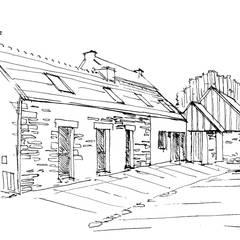 Rénovation d'une maison d'habitation: Maison individuelle de style  par LE RHUN Céline-Emmanuelle - Architecte d'intérieur