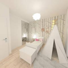 Rénovation d'une maison des années 70 - Frontonas: Chambre d'enfant de style de style Classique par 1.61 design